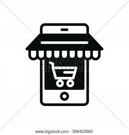 Black Solid Icon For Ecommerce-optimizing Ecommerce Optimizing Cart Market Business Target