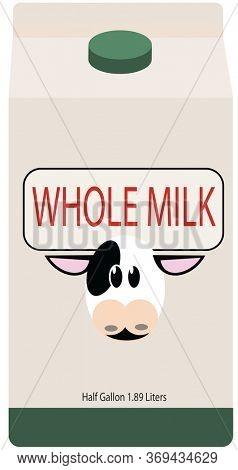 Illustration carton of Whole Milk.
