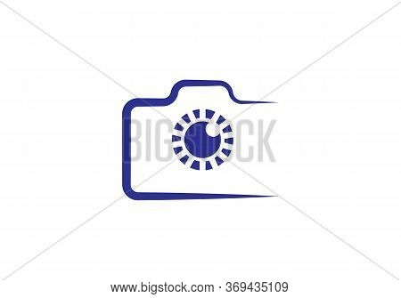 Modern Simple Snapshot Photography Sign. Instant Photo Internet Concept. Trendy Symbol For Website D