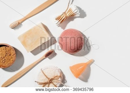 Zero Waste Bathroom Accessories, Natural Eco Bamboo Toothbrushes, Coconut Soap, Konjac Sponge, Clay