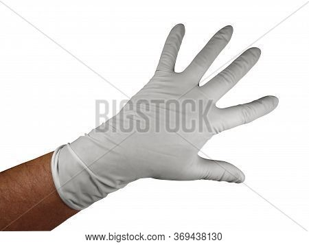 Medical Rubber Gloves, Isolated On White Background. Clipping Path Included.
