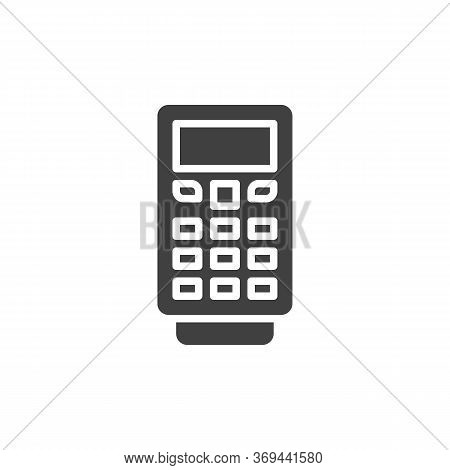 Payment Terminal Vector Icon. Filled Flat Sign For Mobile Concept And Web Design. Pos Terminal With