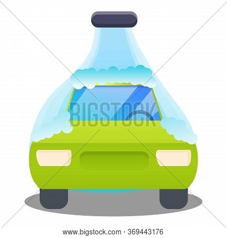 Automatic Car Wash Icon. Cartoon Of Automatic Car Wash Vector Icon For Web Design Isolated On White