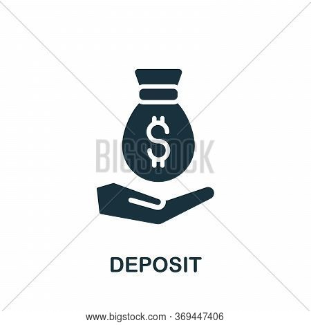 Deposit Icon. Simple Element From Banking Collection. Creative Deposit Icon For Web Design, Template