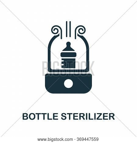 Bottle Sterilizer Icon. Simple Element From Baby Feeding Collection. Creative Bottle Sterilizer Icon