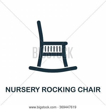 Nursery Rocking Chair Icon. Simple Element From Baby Feeding Collection. Creative Nursery Rocking Ch