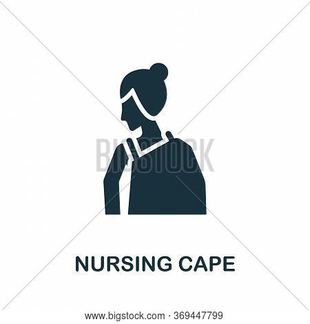 Nursing Cape Icon. Simple Element From Baby Feeding Collection. Creative Nursing Cape Icon For Web D