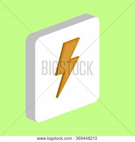 Lighting Bolt Simple Vector Icon. Illustration Symbol Design Template For Web Mobile Ui Element. Per