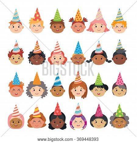 Set Of Cartoon Avatars Of Children Characters