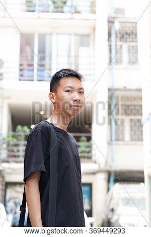 Close Up Close Up Young Man In Bangkok Thailand
