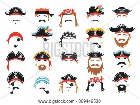 Carnival Pirate Mask Decor. Photo Booth Props