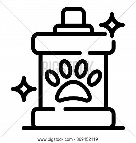 Groomer Shampoo Icon. Outline Groomer Shampoo Vector Icon For Web Design Isolated On White Backgroun