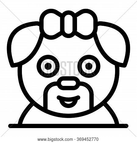 Groomer Puppy Dog Icon. Outline Groomer Puppy Dog Vector Icon For Web Design Isolated On White Backg