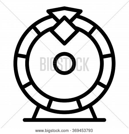 Casino Lucky Wheel Icon. Outline Casino Lucky Wheel Vector Icon For Web Design Isolated On White Bac