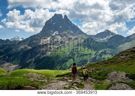 The Pic Du Midi Ossau In The French Pyrenees Mountains