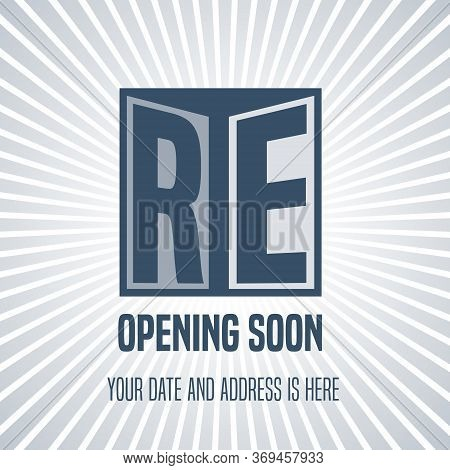 Grand Opening Or Re Opening Vector Background.