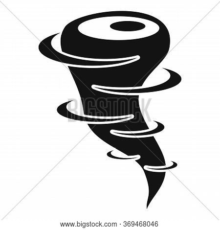 Nature Tornado Icon. Simple Illustration Of Nature Tornado Vector Icon For Web Design Isolated On Wh