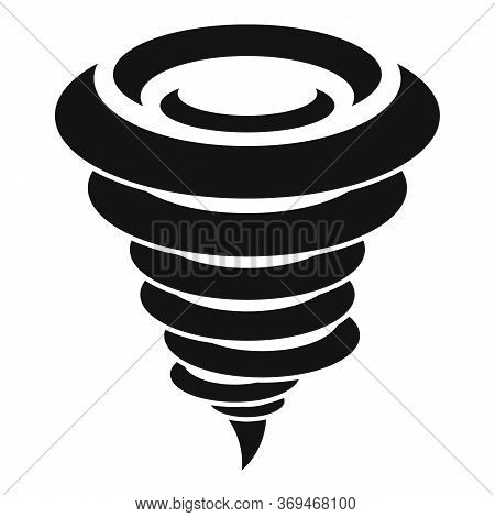 Swirl Tornado Icon. Simple Illustration Of Swirl Tornado Vector Icon For Web Design Isolated On Whit