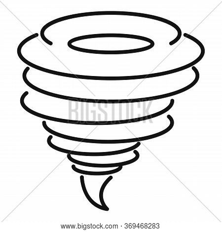 Funnel Tornado Icon. Outline Funnel Tornado Vector Icon For Web Design Isolated On White Background