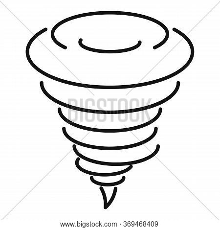 Speed Tornado Icon. Outline Speed Tornado Vector Icon For Web Design Isolated On White Background
