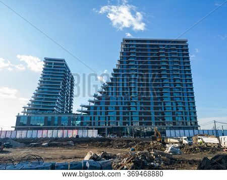 Belgrade / Serbia - February 6, 2020: Buildings On Belgrade Waterfront New Chapter In The City Of Be