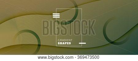 Camouflage Landing Page Design. 3d Fluid Shape Pattern. Vector Digital Movement. Green Futuristic Ma