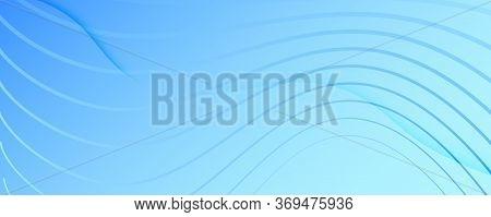 Blue Gradient Background. 3d Fluid Shapes Brochure. Vector Technology Movement. Light Futuristic Web