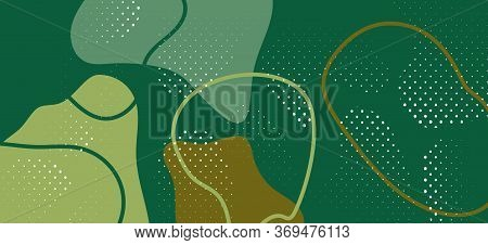 Trendy Camouflage Composition. Minimal Army Wave Poster. Vector Forest Military Pattern. Graphic Cam