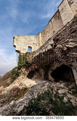 Old Ruins Of The Fort Mollinary (forte Di Monte) Of The Austrian Empire (1849-1852) Built To Protect
