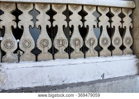 Ornate Stone Balusters With Bits Of Rubbish Left Behind