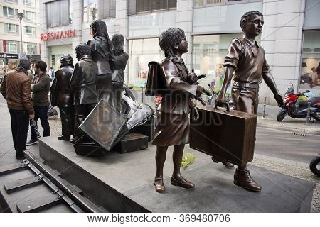 Kindertransport Monument Or Trains To Life Trains To Death Statue Bronze To Memorial Of Ww2 At Fried