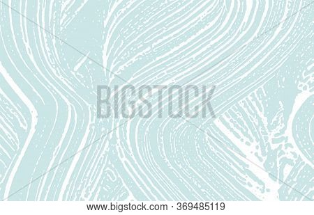 Grunge Texture. Distress Blue Rough Trace. Curious Background. Noise Dirty Grunge Texture. Elegant A