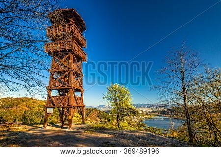 Lookout Tower Above The Village Of Divinka Near Zilina Town, Slovakia, Europe.