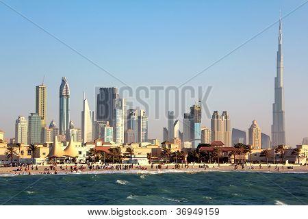 Dubai downtown and Burj Khalifa