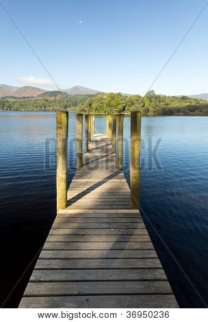 Pier On Derwent Water In Lake District