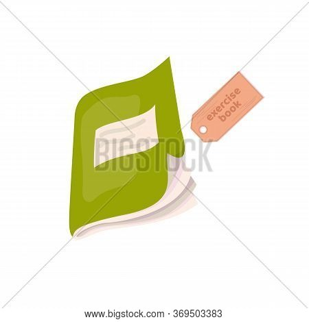 Exercise Book. School Copy Book, Exercise Book, Notebook For Classwork And Homework. Education Equip