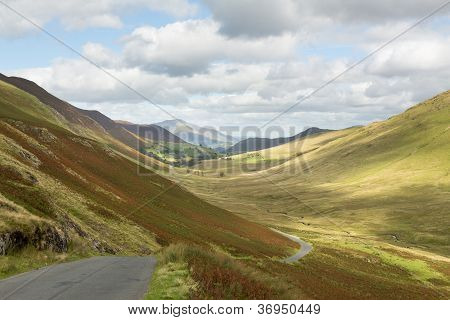 Newlands Pass In Lake District In England