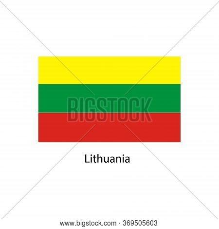 Vector Lithuania Flag, Lithuania Flag Illustration, Lithuania Flag Picture,