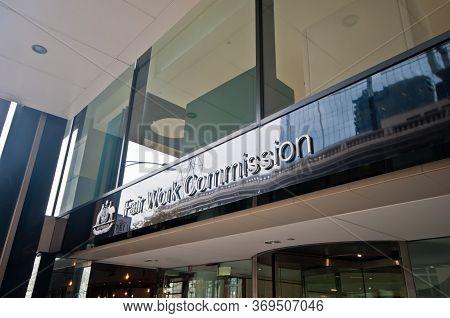 Melbourne, Australia - July 26, 2018: Fair Work Commission Building In Melbourne Australia