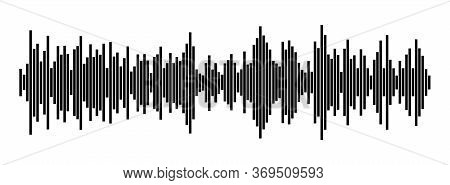 Sound Wave. Abstract Music Pulse Background. Audio Track Wave Graph Of Frequency And Spectrum.