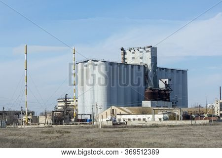 Granaries. Large Agro-processing Plant, Feed, Flour And Grain. Agriculture Development Concept.
