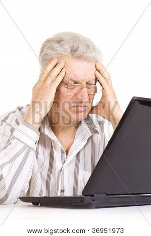 Tired elderly male