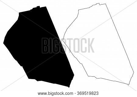 Najaf City (republic Of Iraq, Najaf Governorate) Map Vector Illustration, Scribble Sketch City Of Al