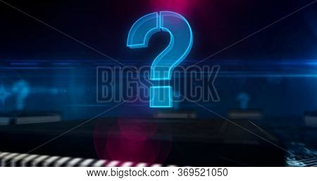 Question Mark 3d Illustration. Quest Sign, Searching, Help, Knowledge And Problem Abstract Concept S