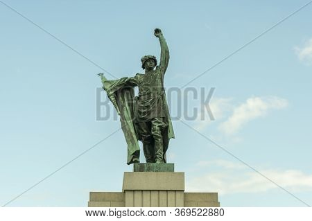 Brno, Czech Republic, May 2020 - Monument To Red Army Warrior Liberator.