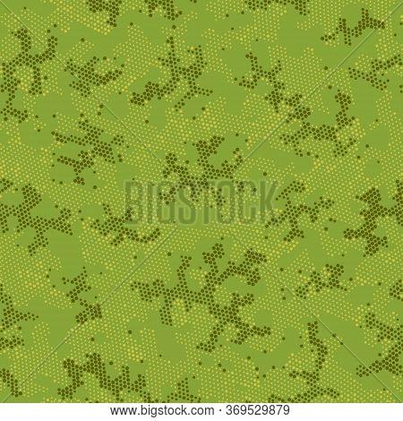 Seamless Vector Patterd Design.  Seamless Graphic Brown Point, Camo Art. Beige Seamless Digital Camo