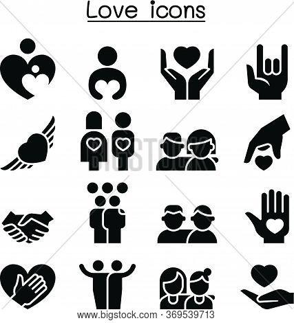 Love, Relationship, Friend, Family Icon Set Vector Illustration Graphic Design