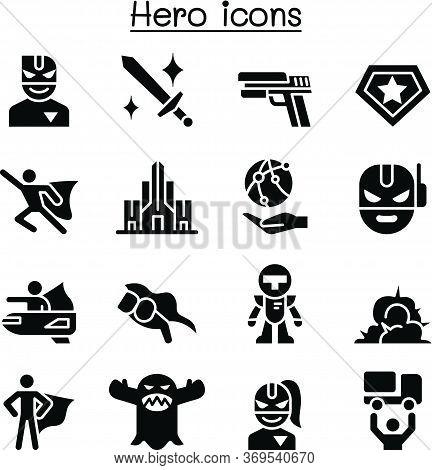 Super Hero Icon Set Vector Illustration Graphic Design