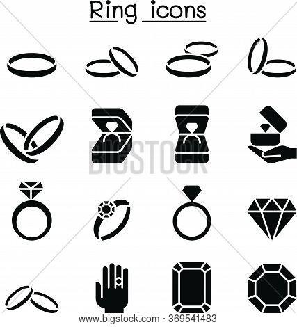 Ring Icon Set Vector Illustration Graphic Design