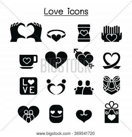 Love Icon Set Vector Illustration Graphic Design